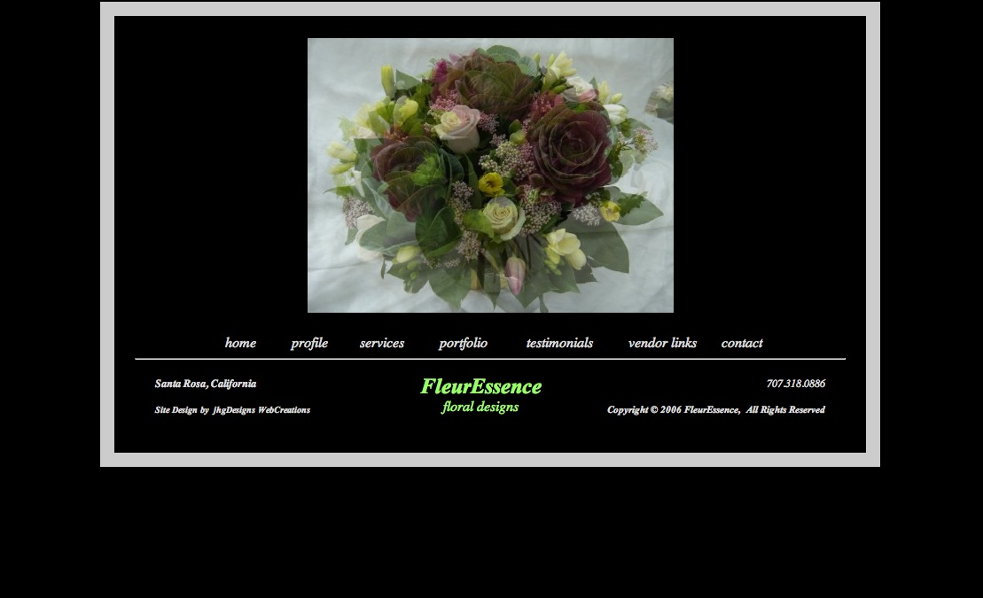 FleurEssence is a floral design studio specializing in weddings and special events, providing floral delight to all of Sonoma County (California).